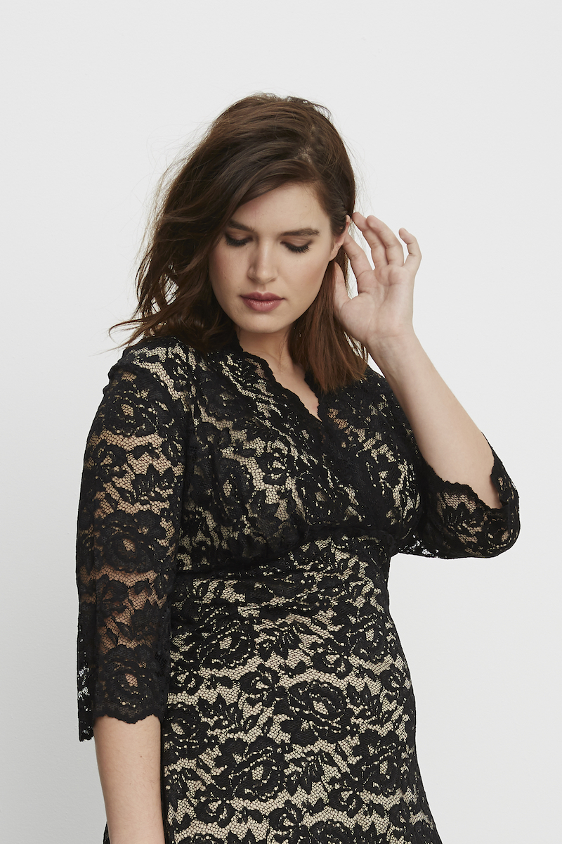 Kiyonna Boudoir Lace Dress Black