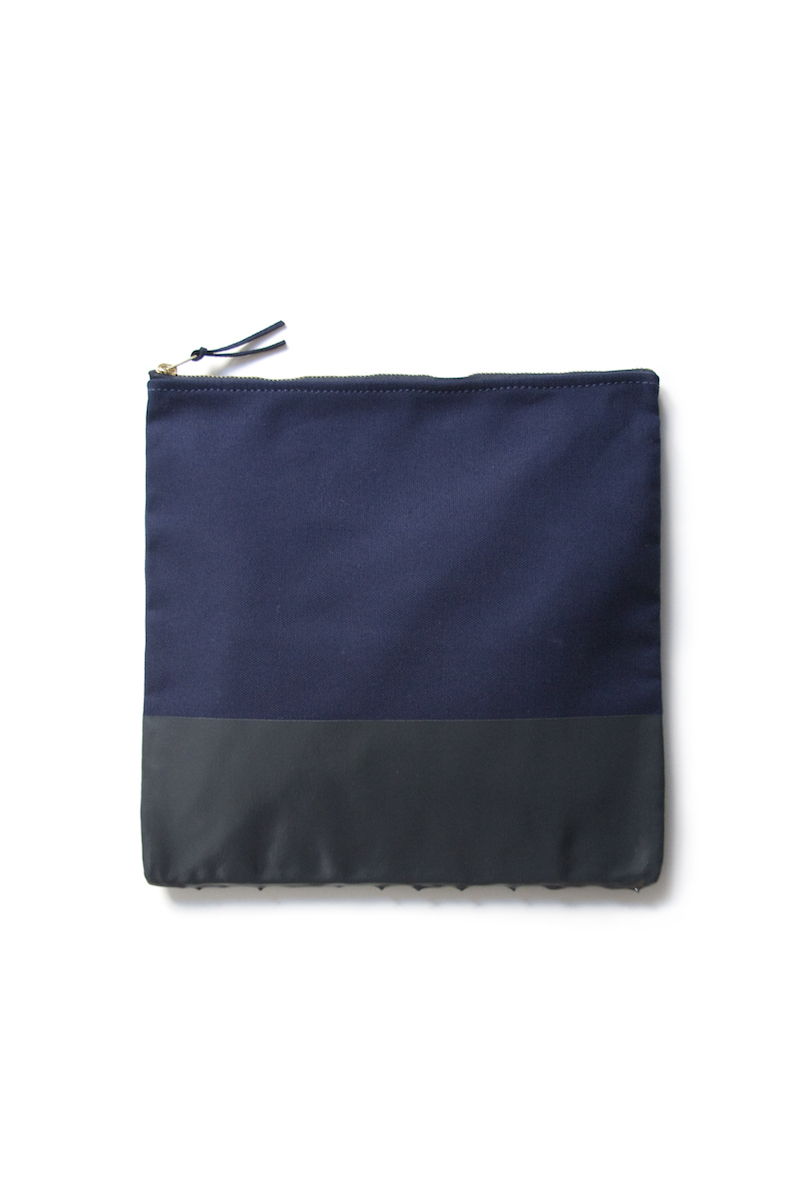 wrk-shp paint dipped clutch navy