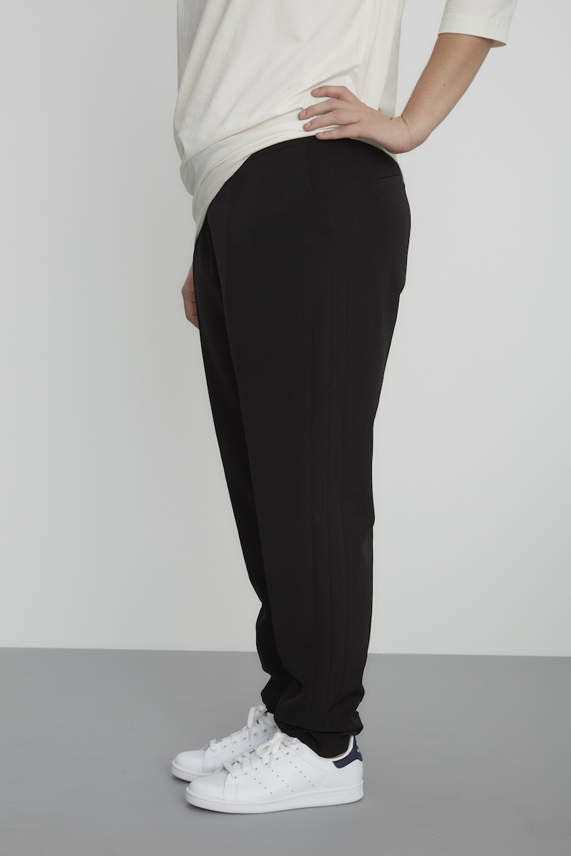 thick girl fashion black pants