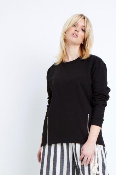 Universal Standard Corbelle zip pullover plus size