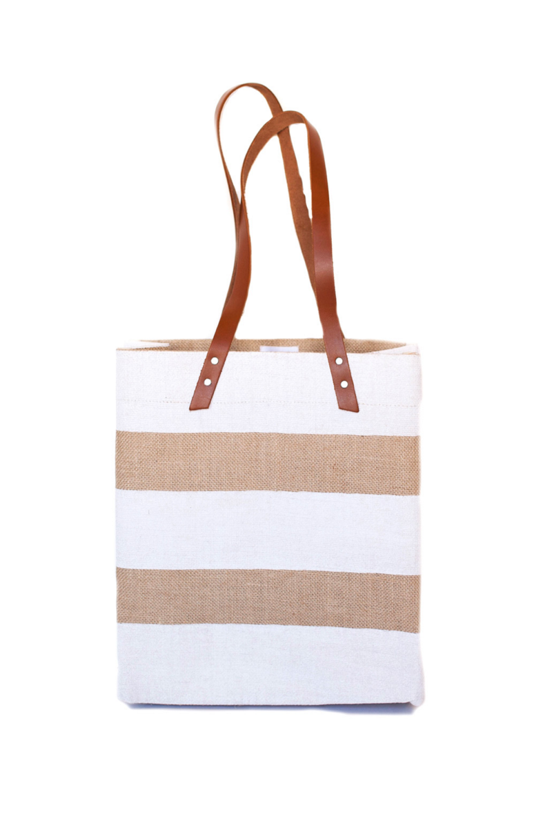 Apolis nautical Stripe Standard WhiteTote