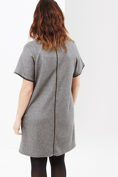 coverstory elvi quilted knit dress back view
