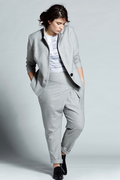 coverstory shegul plus size grey tuxedo jacket