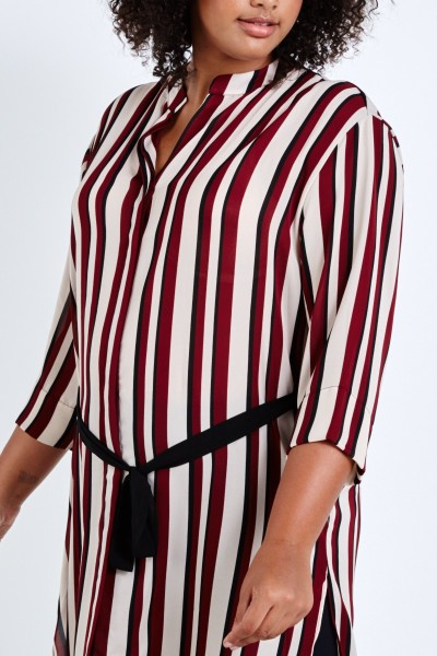 coverstory plus size elvi stripe shirtdress