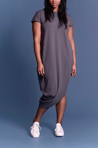 coverstory universal standasrd geneva dress anchor grey plus size