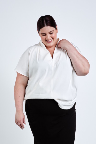 coverstory universal standard plus size cambria top white