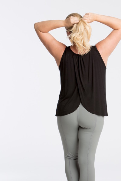 lola getts tulip back tank plus size black coverstory