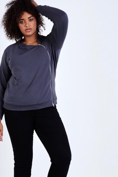 plus size universal standard meridian zip sweater