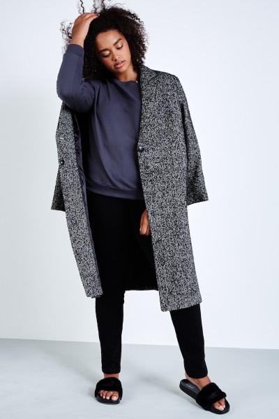 Elvi oversized tweed coat plus size coverstory