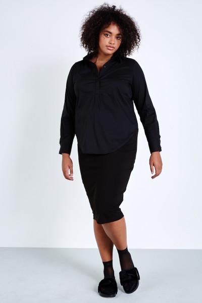 universal standard danube skirt black coverstoryNYC