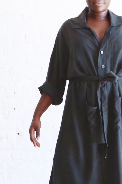 coverstory hackwith design house plus denim shirtdress