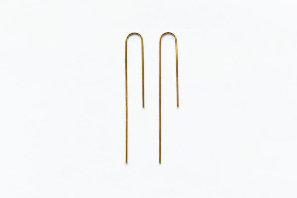 864 design bar hook earrings