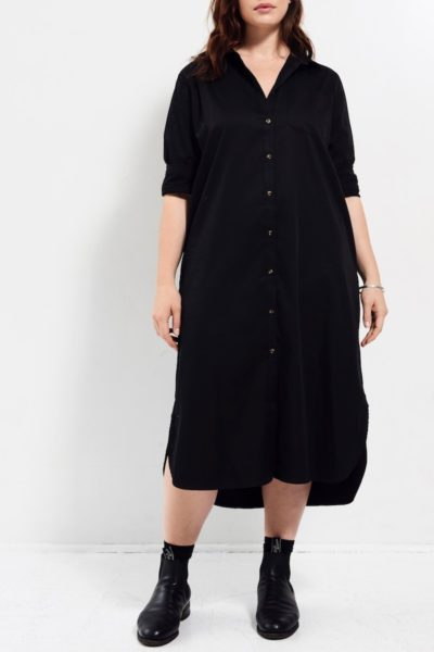 Universal Standard Georgia Shirtdress Black