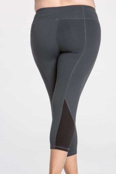 lola getts colorblock plus size charcoal black capri