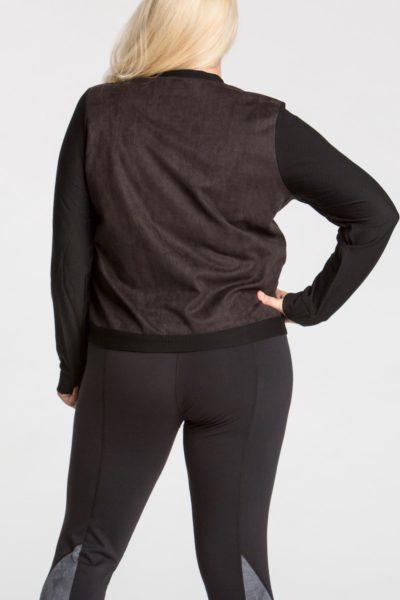 lola getts ultra suede plsu size training jacket black coverstory