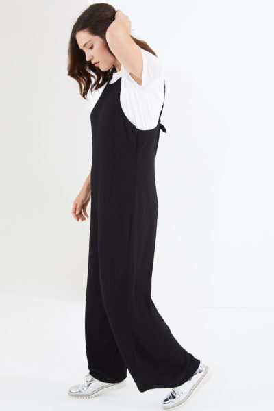 Elvi easy wide leg jumpsuit plus size black coverstorynyc