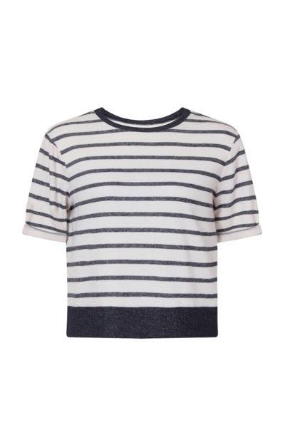 Elvi stripe sweatshirt plus size coverstory