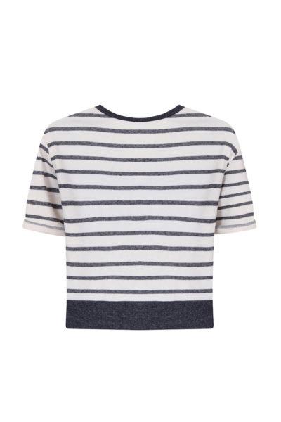 Elvi stripe sweatshirt plus size