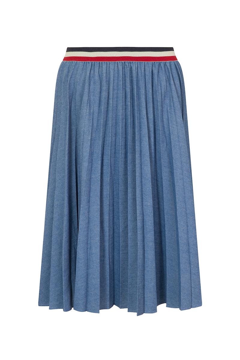 elvi denim pleated skirt coverstory