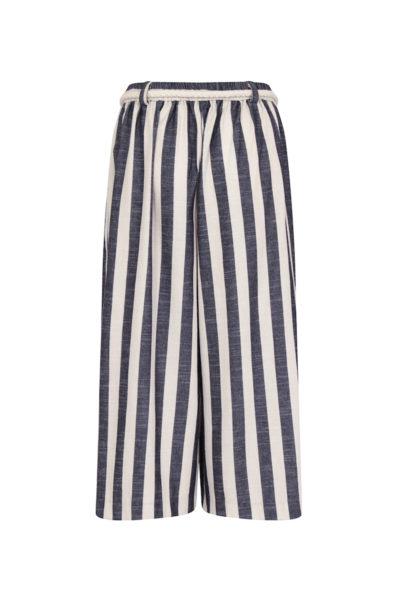 Elvi cropped striped wide leg pant plus size