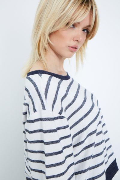 Elvi striped sweatshirt plus size