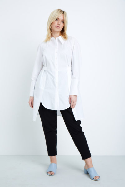 Shegul Kailee Cotton Tunic plus size white