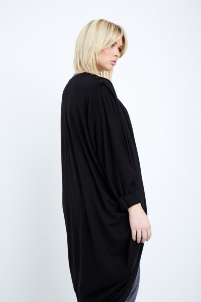 Shegul Mia cocoon cardigan plus size black Coverstory