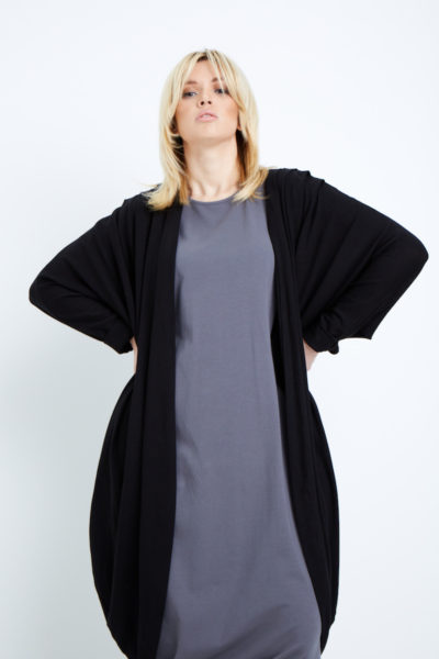 Shegul Mia cocoon cardigan plus size black Coverstory
