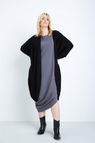 universal standard geneva dress plus size anchor grey coverstoryNYC