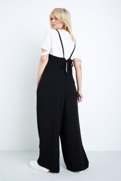 Elvi easy wide leg jumpsuit plus size black coverstorynyc