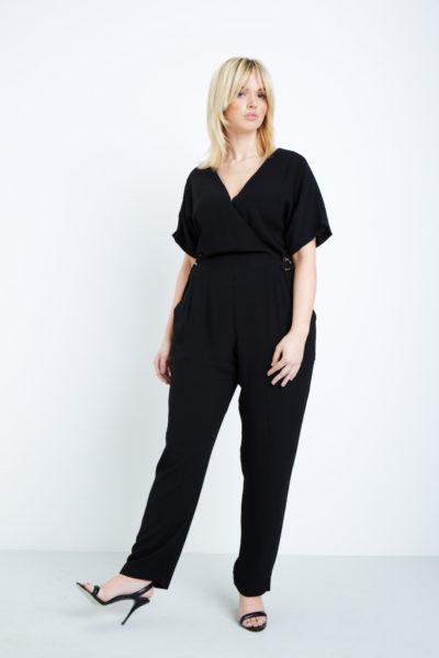 elvi black jumpsuit plus size black COVERSTORY