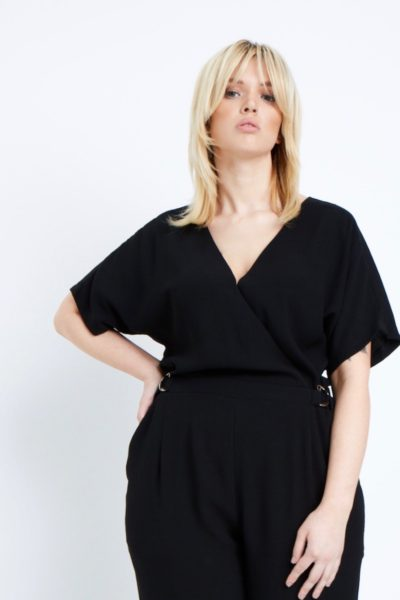 elvi black jumpsuit plus size black