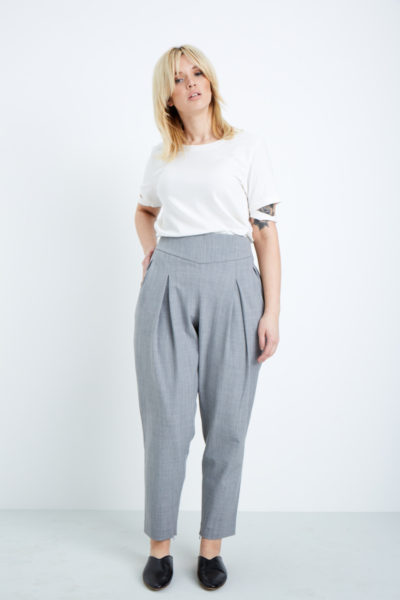 shegul tapered leg pant plus size gray