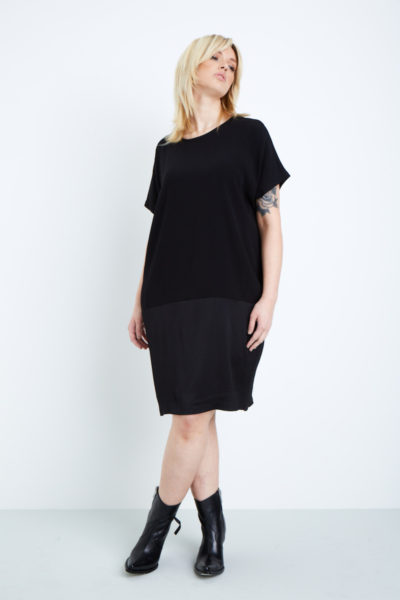 universal standard avenir tulip dress plus size black
